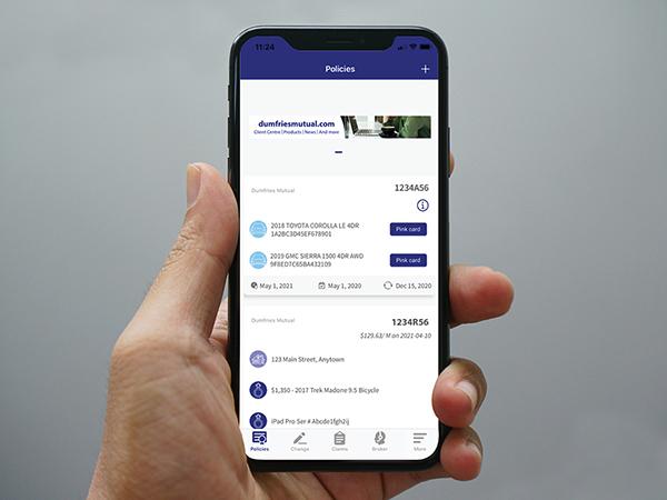 Dumfries Connect mobile app WEB