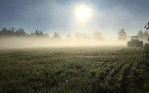 morning foggy sunrise over farmers fields with a tractor   Top Local Destinations To Visit This Summer on The Dumfries Summer Trail