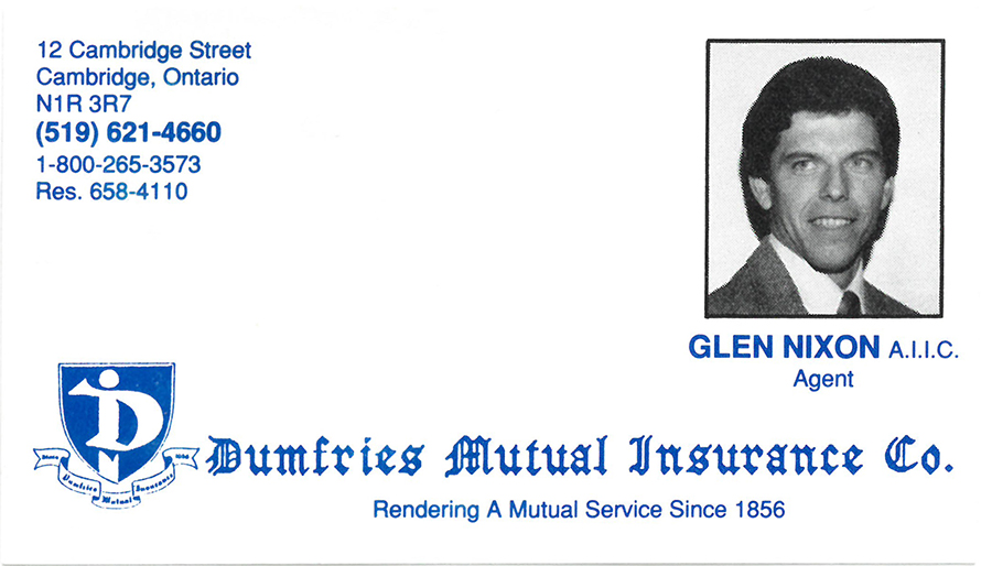 Glen's old business card