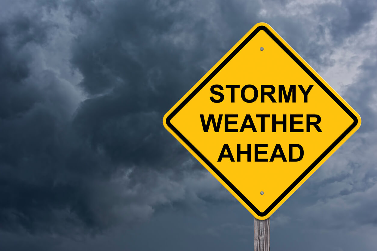 stormy weather sign